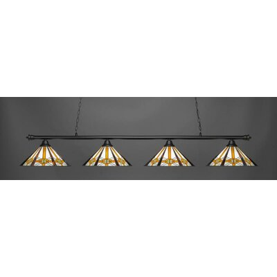 Passabe 4-Light 150W Cone Shade Billiard Pendant