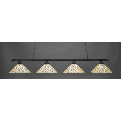 Oxford 4-Light Billiard Pendant Base Finish: Matte Black