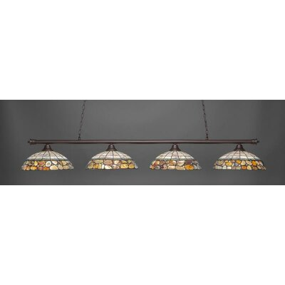 Oxford 4-Light Pendant Base Finish: Dark Granite