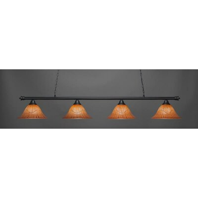 Passabe 4-Light Billiard Pendant Shade Color: Tiger
