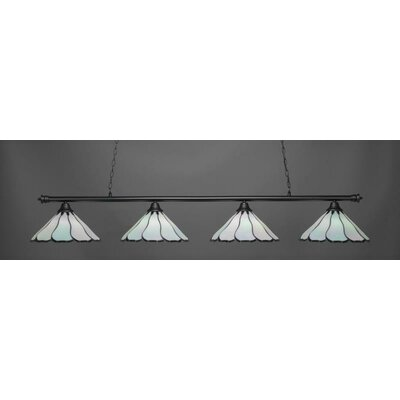 Passabe Tiffany 4-Light Billiard Pendant Shade Color: Black
