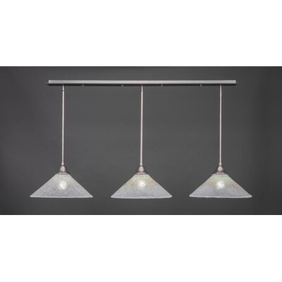 3-Light Kitchen Island Pendant Base Finish: Brushed Nickel
