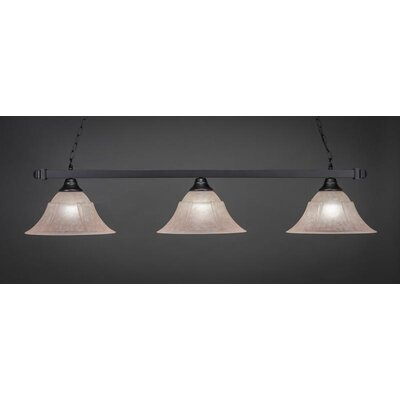 3-Light Billiard Pendant Shade Color: Italian