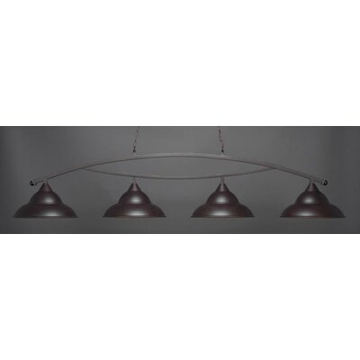 Bow 4-Light Billiard Pendant