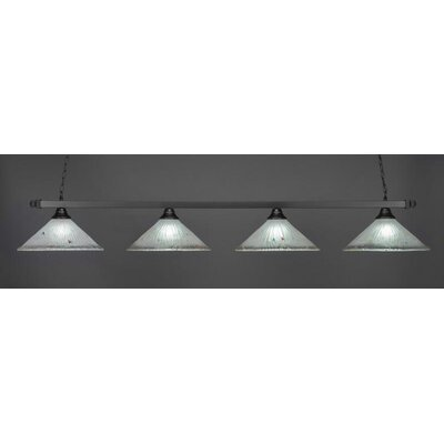 4-Light Billiard Pendant Shade Color: Frosted