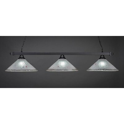 3-Light Kitchen Island Pendant Shade Color: Frosted