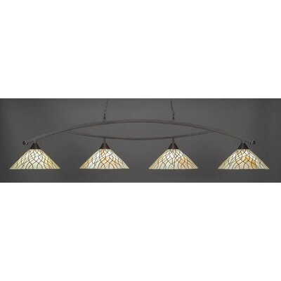 Austinburg 4-Light Billiard Pendant Base Finish: Dark Granite