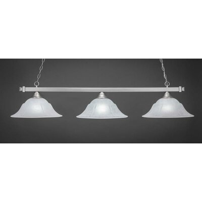 3-Light Billiard Pendant Shade Color: White