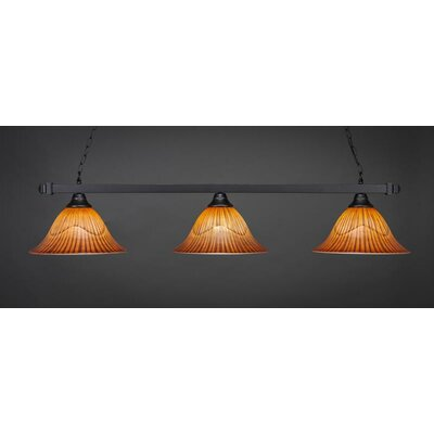 3-Light Billiard Pendant Shade Color: Tiger