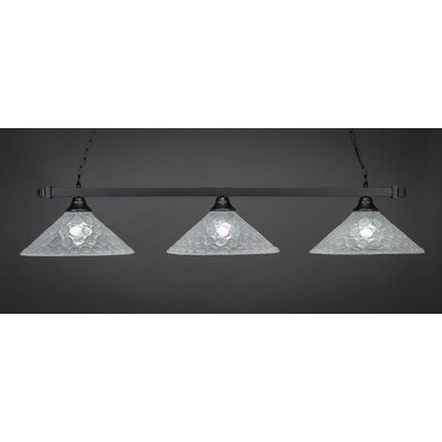 3-Light Billiard Pendant Base Finish: Matte Black