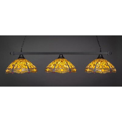 3-Light Billiard Island Pendant