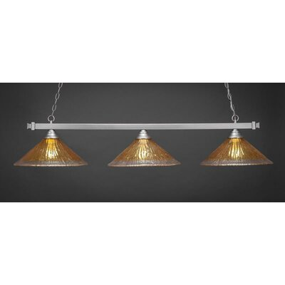 3-Light Billiard Pendant Shade Color: Gold Champagne