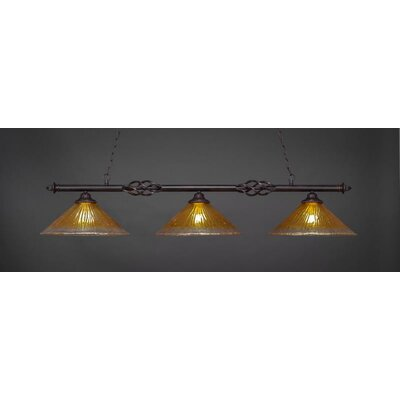 Elegant� 3-Light Billiard Pendant Shade Color: Gold Champagne