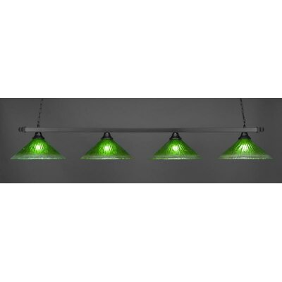 4-Light Billiard Pendant Shade Color: Kiwi Green