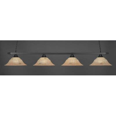 4-Light Billiard Pendant Shade Color: Italian