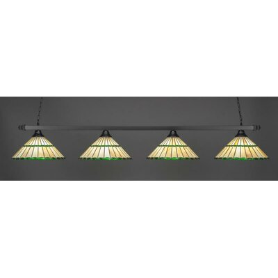 4-Light Billiard Pendant Base Finish: Bronze