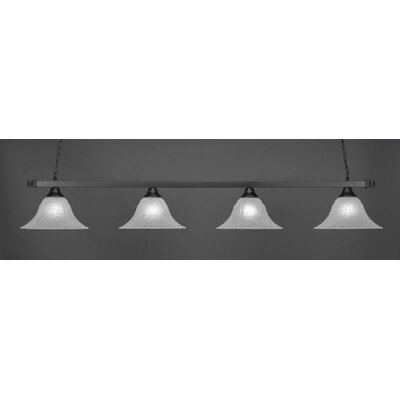 4-Light Billiard Pendant Shade Color: White