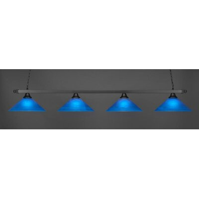 4-Light Billiard Pendant Base Finish: Matte Black