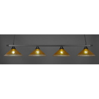 4-Light Billiard Pendant Shade Color: Gold Champagne