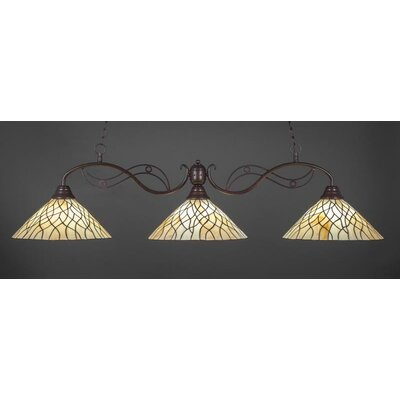 Jazz 3-Light Billiard Island Pendant