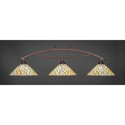 Austinburg 3-Light Billiard Pendant Base Finish: Bronze