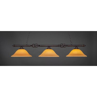 Elegant� 3-Light Kitchen Island Pendant Shade Color: Cayenne