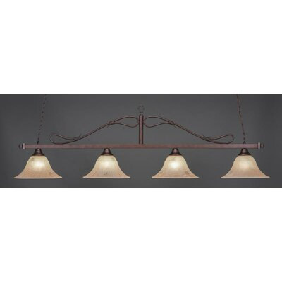 Reba 4-Light Pendant Shade Color: Italian