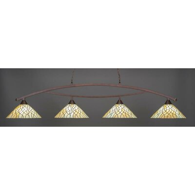 Austinburg 4-Light Billiard Pendant Base Color: Bronze
