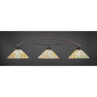 Austinburg 3-Light Billiard Pendant Base Color: Dark Granite