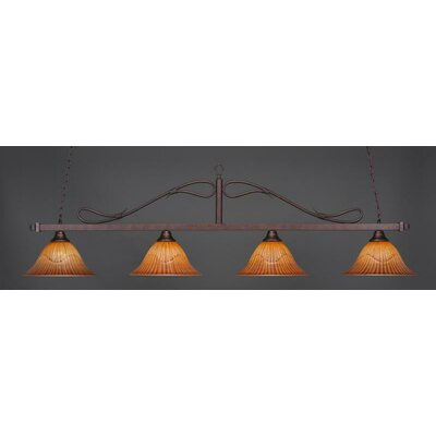 Reba 4-Light Pendant Shade Color: Tiger