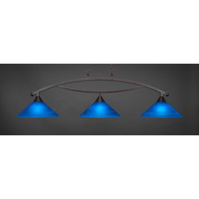 Bow 3-Light Billiard Pendant Base Finish: Dark Granite