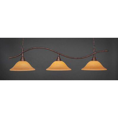 Swoop 3-Light Billiard Pendant Shade Color: Cayenne
