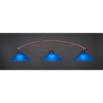 Bow 3-Light Billiard Pendant Base Finish: Bronze