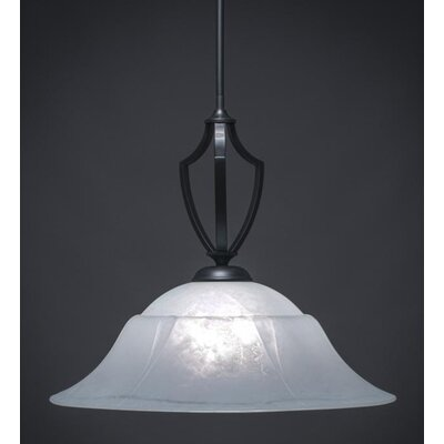 Zilo 1-Light Bowl Pendant Base Finish: Matte Black