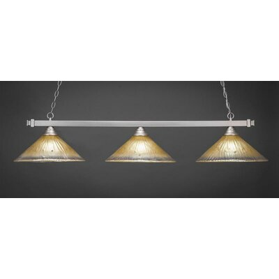 3-Light Billiard Pendant Shade Color: Amber