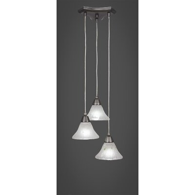 Europa 3-Light Cascade Pendant Shade Color: Frosted