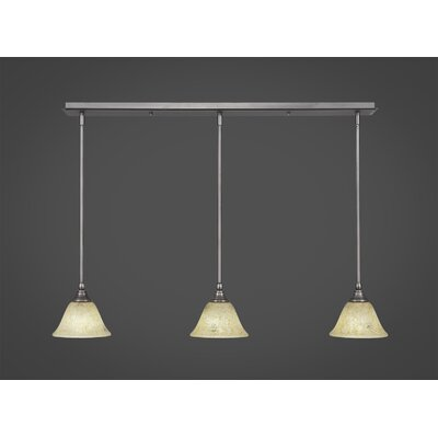 Any 3-Light Kitchen Island Pendant Finish: Brushed Nickel