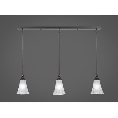 Any 3-Light Kitchen Island Pendant Finish: Dark Granite, Shade Color: Frosted