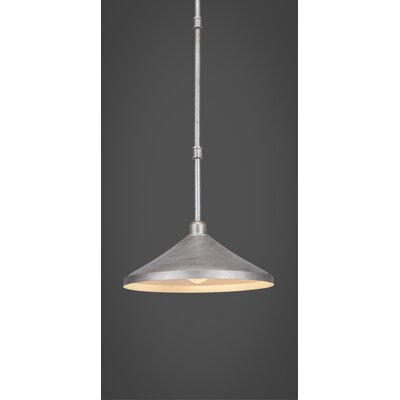 Kash 1-Light Mini Pendant Finish: Aged Silver