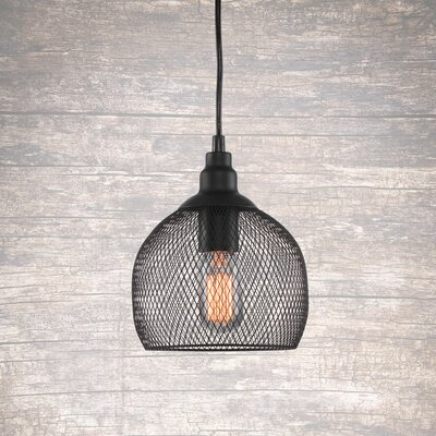 Plexus 1-Light Mini Pendant Finish: Matte Black