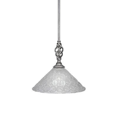 Elegante 1-Light Mini Pendant Size: 12.25 H x 12 W x 12 D