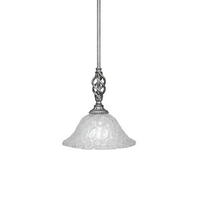 Elegante 1-Light Mini Pendant Size: 11.25 H x 10 W x 10 D