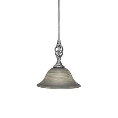 Elegante 1-Light Mini Pendant Size: 11.25 H x 10 W x 10 D