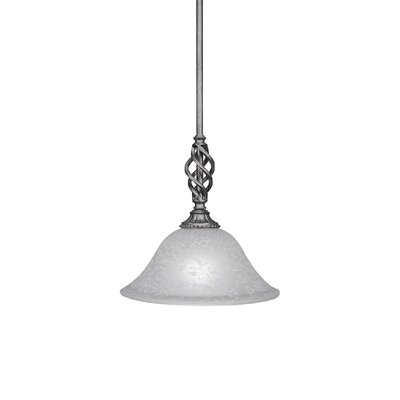 Elegante 1-Light Mini Pendant Shade Color: White, Size: 10 H x 10 W x 10 D