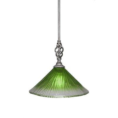 Elegante 1-Light Mini Pendant Size: 12 H x 12 W x 12 D