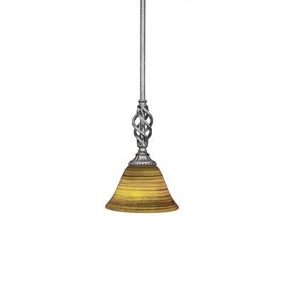 Elegante 1-Light Mini Pendant Size: 10.5 H x 7 W x 7 D