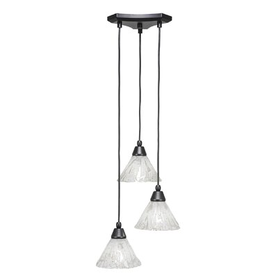 Europa 3-Light Cascade Pendant Shade Color: Italian