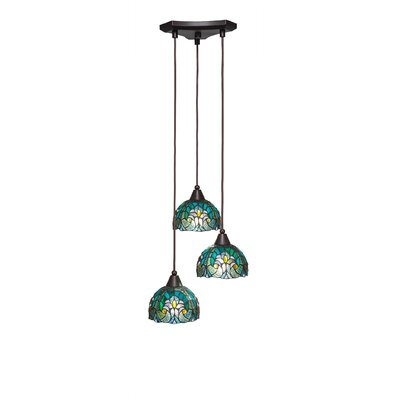 Europa 3-Light Pendant Shade Color: Turquoise