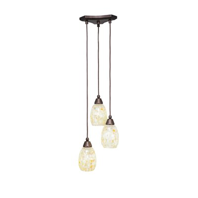 Europa 3-Light Pendant Shade Color: Ivory Glaze
