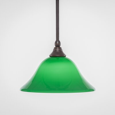 Stem 1-Light Mini Pendant Shade Color: Green